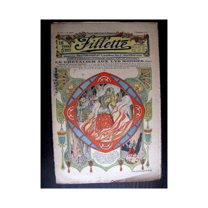 FILLETTE 1913 N°278 LE CHEVALIER AU LYS ROUGE (Poupée Fillette - Chemise de nuit brodée)