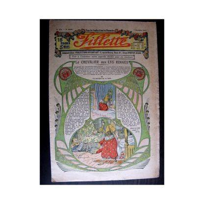 FILLETTE 1913 N°279 LE CHEVALIER AU LYS ROUGE (Mode Fillette - Modèles de tailleurs)