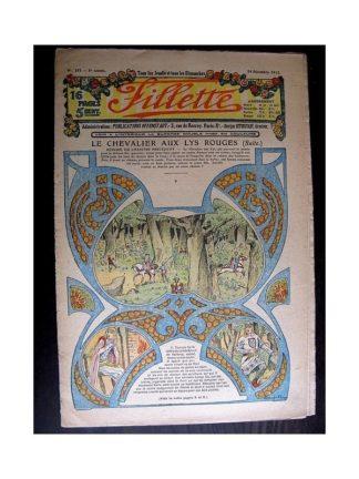 FILLETTE 1913 N°281 LE CHEVALIER AU LYS ROUGE (Mode Fillette - Modèle de robe de mariée)