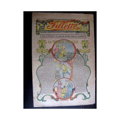 FILLETTE 1914 N°287 LA VAILLANTE PRINCESSE (Mode Fillette - Modèles de robes et manteaux)