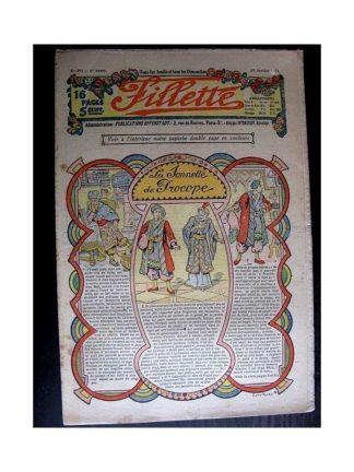 FILLETTE 1914 N°293 LA SONNETTE DE PROCOPE (Mode Fillette - Modèles de robes et déguisements)