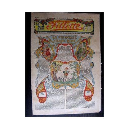 FILLETTE 1914 N°295 LA PRINCESSE VILAINE MINE (Mode Fillette - Modèles de déguisements)