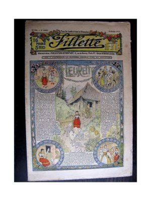 FILLETTE (SPE) 1914 N°296 FLEURETTE (Poupée Friquette – Costume d'Incroyable – 1)