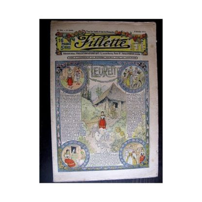FILLETTE 1914 N°296 FLEURETTE (Friquette - Costume d'Incroyable - 1)