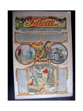 FILLETTE 1914 N°297 LE LUTH DE SANSONNET (Mode de Fillette - Modèles de robes et tailleurs)