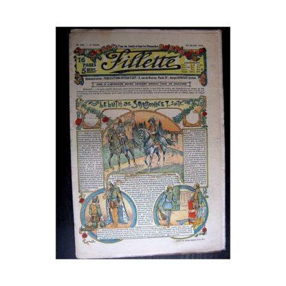 FILLETTE 1914 N°298 LE LUTH DE SANSONNET (Poupée Friquette - Costume d'Incroyable - 2)