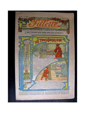 FILLETTE 1914 N°299 LES TROIS CERISES D'OR (Mode Fillette - Modèles de robes et tailleurs)