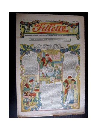 FILLETTE 1914 N°305 LA PETITE FILLE TRANSFORMEE EN CHATTE (Mode Fillette - Modèles de robes)