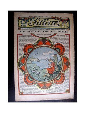 FILLETTE 1914 N°306 LE GENIE DE LA MER (légende bretonne) Poupée Fillette - Toilette de comuniante