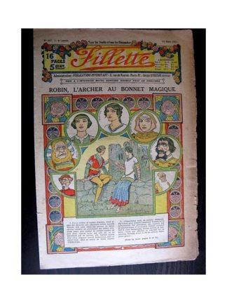 FILLETTE 1914 N°307 ROBIN L'ARCHER AU BONNET MAGIQUE