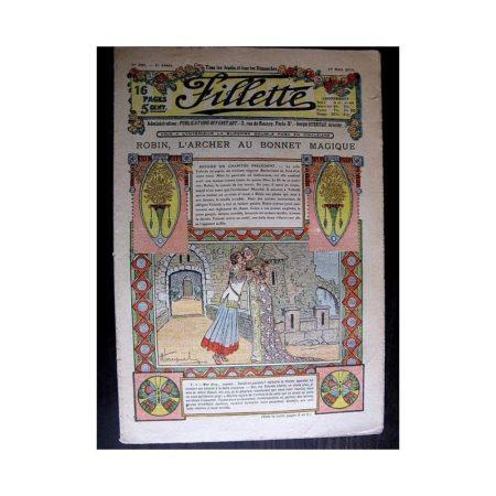 FILLETTE 1914 N°308 ROBIN L'ARCHER AU BONNET MAGIQUE (Poupée Fillette : toilete de communiante)
