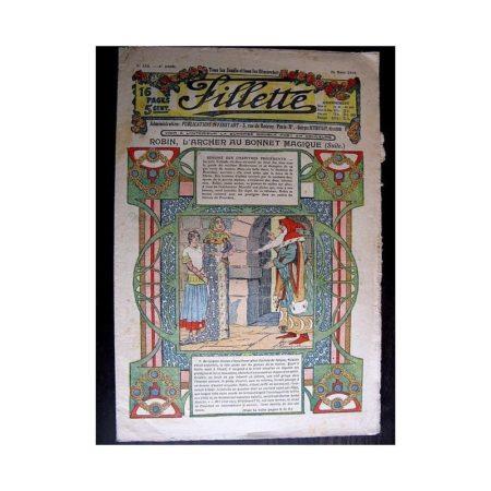 FILLETTE 1914 N°310 ROBIN L'ARCHER AU BONNET MAGIQUE (Poupée Fillette - Robe Lilyette)