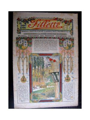 FILLETTE 1914 N°311 ROBIN L'ARCHER AU BONNET MAGIQUE (Mode - modèles de corsages et robes)