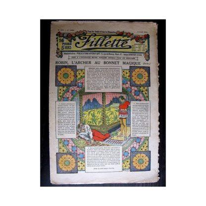 FILLETTE 1914 N°312 ROBIN L'ARCHER AU BONNET MAGIQUE (Poupée Fillette - manteau)