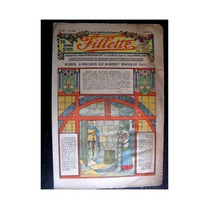 FILLETTE 1914 N°313 ROBIN L'ARCHER AU BONNET MAGIQUE (Mode - Modèles de robes)