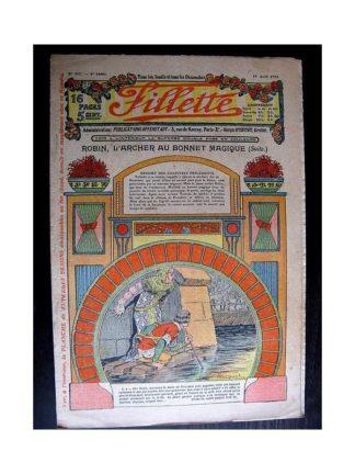 FILLETTE 1914 N°317 ROBIN L'ARCHER AU BONNET MAGIQUE (Mode - Modèles de jupes et corsages)