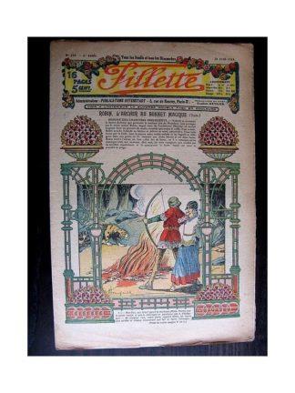 FILLETTE 1914 N°319 ROBIN L'ARCHER AU BONNET MAGIQUE (Mode - modèle de robe de mariée)