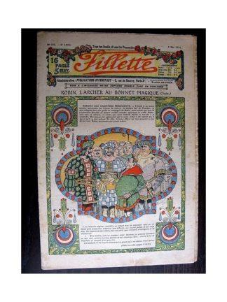 FILLETTE 1914 N°321 ROBIN L'ARCHER AU BONNET MAGIQUE (Mode Fillette - Modèles de jupes et tailleurs)