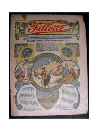 FILLETTE 1914 N°339 BLANCHE-MARIE FILLE DE CORSAIRE (Mode de Fillette - modèles de robes 1914)