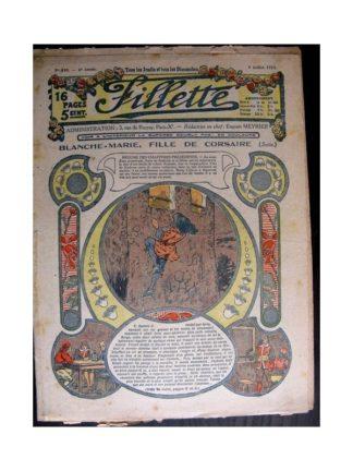 FILLETTE 1914 N°340 BLANCHE-MARIE FILLE DE CORSAIRE (Poupée Fillette - manteau en drap)