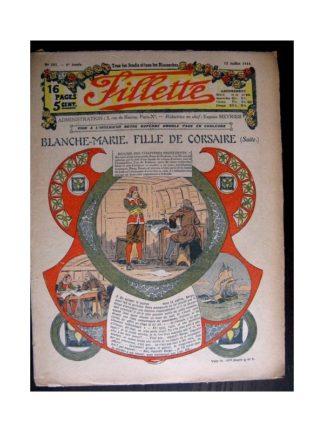 FILLETTE 1914 N°341 BLANCHE-MARIE FILLE DE CORSAIRE (Mode Fillette - modèle de robes 1914)