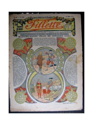 FILLETTE 1914 N°343 BLANCHE-MARIE FILLE DE CORSAIRE (Mode Fillette - modèles de robes 1914)