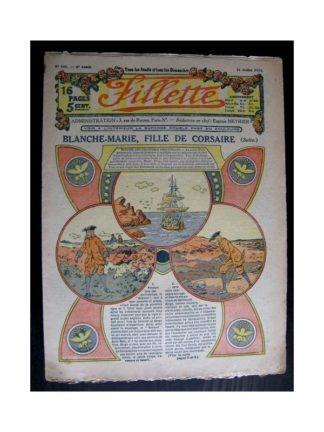FILLETTE 1914 N°345 BLANCHE-MARIE FILLE DE CORSAIRE (Mode Fillette - modèles de robes 1914)
