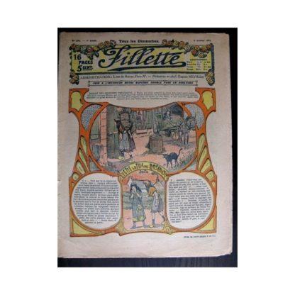 FILLETTE 1915 N°356 YVETTE LA FILLE DES ROSEAUX (Poupée Fillette - Robe Chiffonnette)