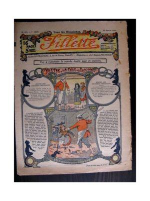 FILLETTE (SPE) 1915 N°357 YVETTE LA FILLE DES ROSEAUX (Mode de Fillette – Modèles de robes 1915)