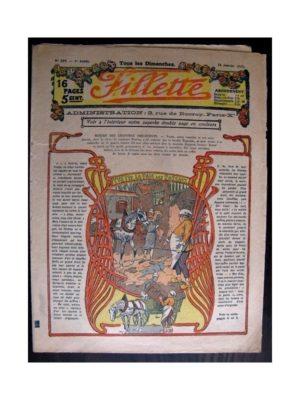 FILLETTE (SPE) 1915 N°359 YVETTE LA FILLE DES ROSEAUX (Mode de Fillette – Modèles de robes 1915)