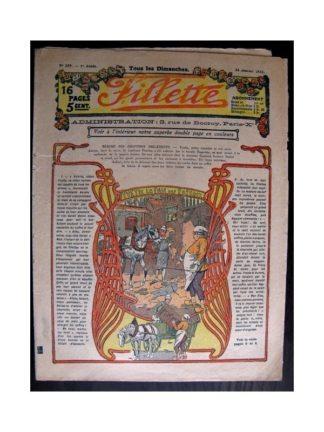 FILLETTE 1915 N°357 YVETTE LA FILLE DES ROSEAUX (Mode de Fillette - Modèles de robes 1915)