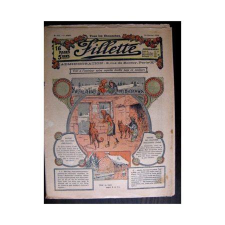FILLETTE 1915 N°362 YVETTE LA FILLE DES ROSEAUX (Poupée Fillette - Chapeau Alberte)