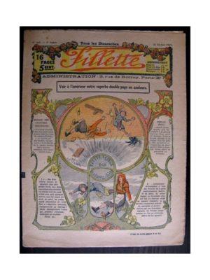 FILLETTE (SPE) 1915 N°363 YVETTE LA FILLE DES ROSEAUX (Mode de Fillette – Modèles de robes 1915)