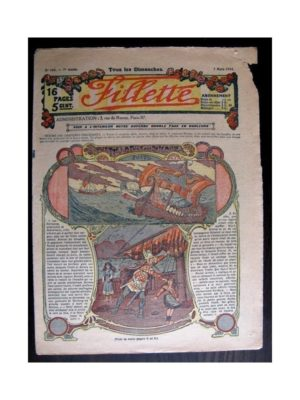 FILLETTE (SPE) 1915 N°365 YVETTE LA FILLE DES ROSEAUX (Poupée Fillette – Robe Favorite)
