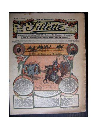 FILLETTE 1915 N°368 YVETTE LA FILLE DES ROSEAUX (poupée Fillette - Costumes anglais)