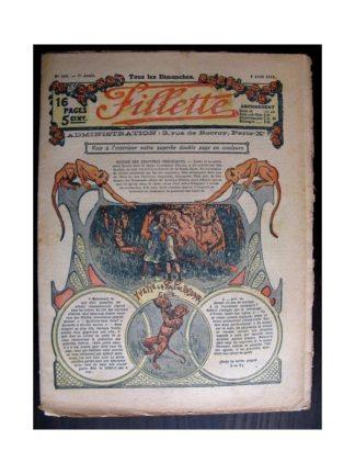 FILLETTE 1915 N°369 YVETTE LA FILLE DES ROSEAUX (poupée Fillette - Costume anglais)