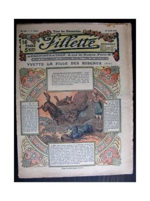 FILLETTE (SPE) 1915 N°370 YVETTE LA FILLE DES ROSEAUX (Mode de Fillette – Modèles de robes 1915)