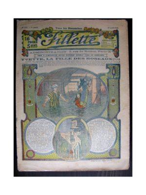 FILLETTE (SPE) 1915 N°372 YVETTE LA FILLE DES ROSEAUX (Mode de Fillette – Modèles de robes 1915)