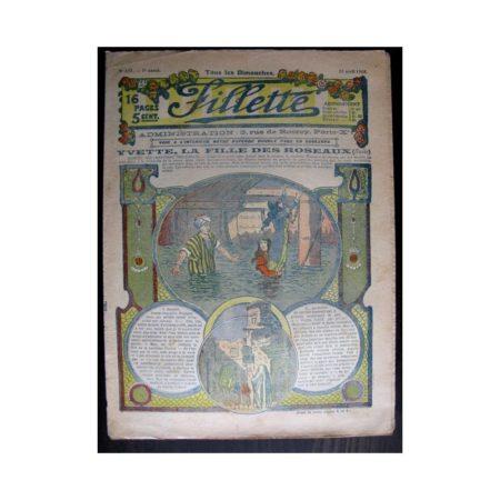 FILLETTE 1915 N°370 YVETTE LA FILLE DES ROSEAUX (Mode de Fillette - Modèles de robes 1915)
