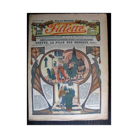 FILLETTE 1915 N°371 YVETTE LA FILLE DES ROSEAUX (poupée Fillette - Manteau Bobb)