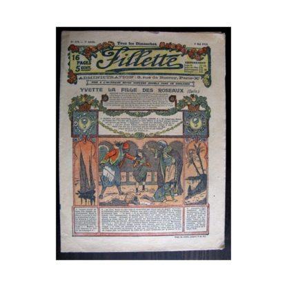 FILLETTE 1915 N°372 YVETTE LA FILLE DES ROSEAUX (Mode de Fillette - Modèles de robes 1915)
