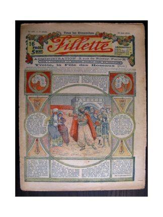 FILLETTE 1915 N°379 YVETTE LA FILLE DES ROSEAUX (poupée Fillette - Jupe Albertine)