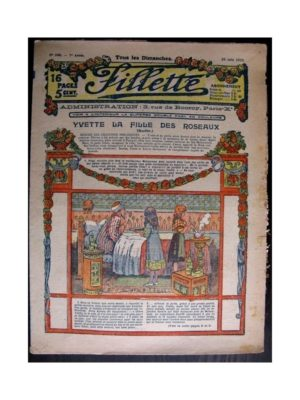 FILLETTE (SPE) 1915 N°380 YVETTE LA FILLE DES ROSEAUX (Mode de Fillette – Modèles de robes 1915)