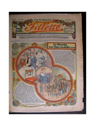 FILLETTE 1915 N°385 LA POUPEE AUX YEUX DE JADE (Mode Fillette - Chapeau pour la plage)