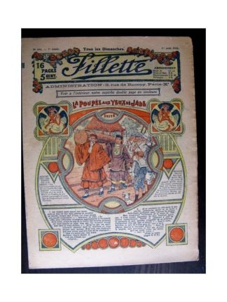 FILLETTE 1915 N°386 LA POUPEE AUX YEUX DE JADE (Mode Fillette - Modèles de robes 1915)