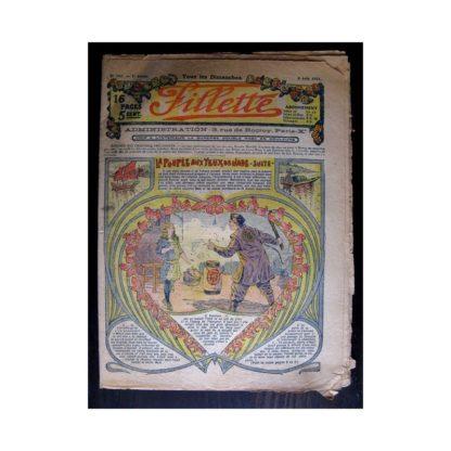 FILLETTE 1915 N°387 LA POUPEE AUX YEUX DE JADE (Mode Fillette - Chapeau d'été 1915)