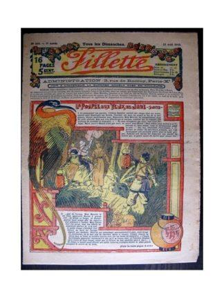 FILLETTE 1915 N°389 LA POUPEE AUX YEUX DE JADE (Poupée Fillette - Robe d'intérieur)