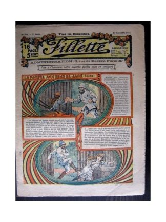 FILLETTE 1915 N°394 LA POUPEE AUX YEUX DE JADE (Mode Fillette - Modèles de robes 1915)