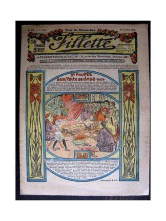 FILLETTE 1915 N°398 LA POUPEE AUX YEUX DE JADE (Mode Fillette - Modèles de robes 1915)