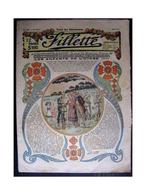 FILLETTE (SPE) 1916 N°426 LES ENFANTS DE L'OTAGE (Poupée Friquette – Pochette brodée)